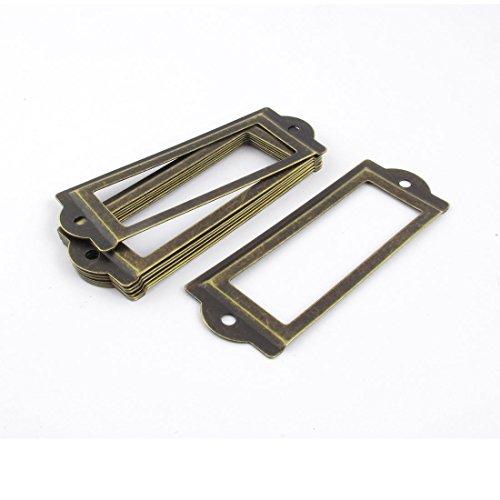 sourcingmap Étiquettes pour dossiers tiroir de Porte - 83 mm x 30 mm-Lot de 8 clés Plates Bronze