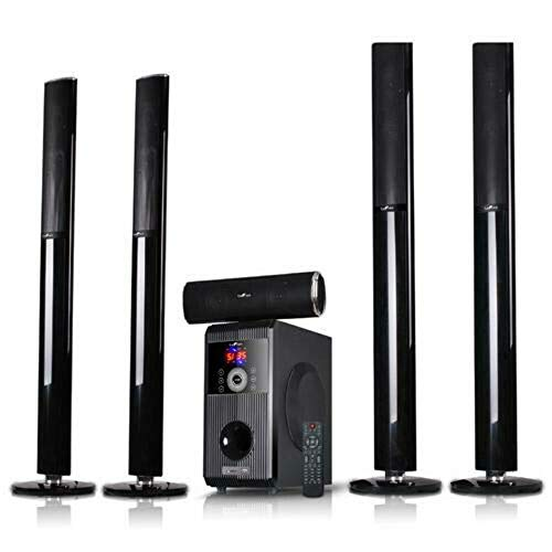 beFree Sound Amplifier 5.1 Channel Bluetooth Home Speaker System with USB and SD Slots
