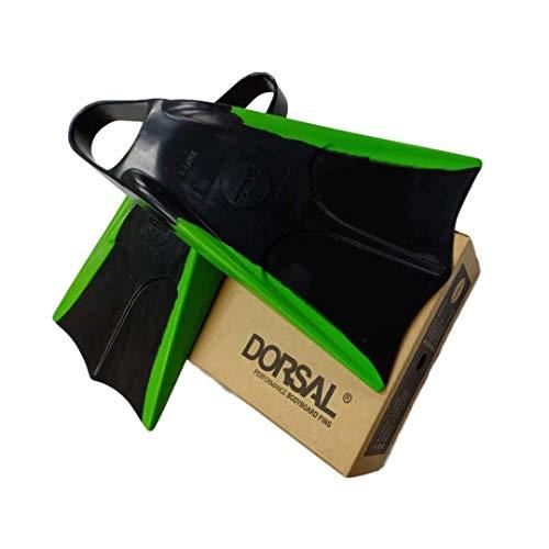DORSAL Bodyboard Floating Swimfins (Flippers) Black - Mens US Size SM 6-7