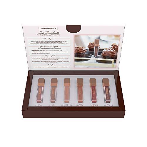 L'Oréal Paris MakeUp Cofanetto Idea Regalo Make Up Les Chocolats, Confezione da 6 Rossetti Tinta Labbra a Lunga Tenuta, Formula Coprente al Sapore di Coccolato