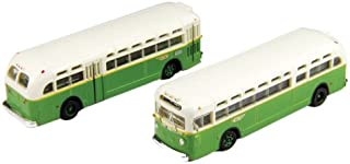 Classic Metal Works N Scale GMC TD 3610 Transit Bus 2-Pack - Philadelphia (PTC)