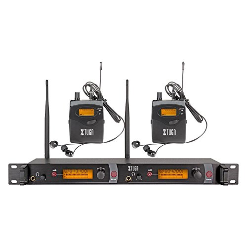 XTUGA RW2080 Rocket Audio Whole Metal Wireless in Ear Monitor System 2 Channel 2 Bodypack Monitoring with in Earphone Wireless Type Used for Stage or Studio ¡­