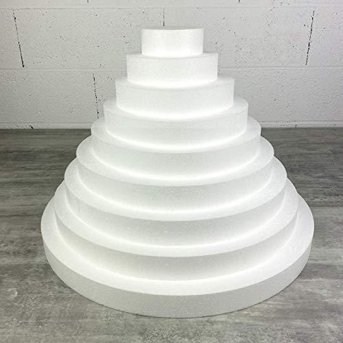 Lealoo Pièce montée XL en polystyrène Haute densité, Hauteur 36 cm, Base 50 cm, 9 étages