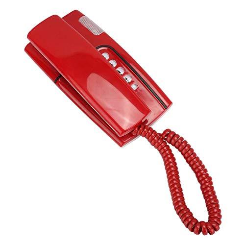 Mxzzand N.Nic KX-T811 Flash rápido Durable Conveniente Teléfono Fijo confiable y Estable Mini teléfono, para Oficina en casa(Red)