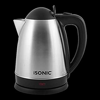 iSONIC STAINLESS STEEL KETTLE 2.5L 1800 Watts WiITH STAINLESS STEEL CONCEALED HEATING ELEMENT