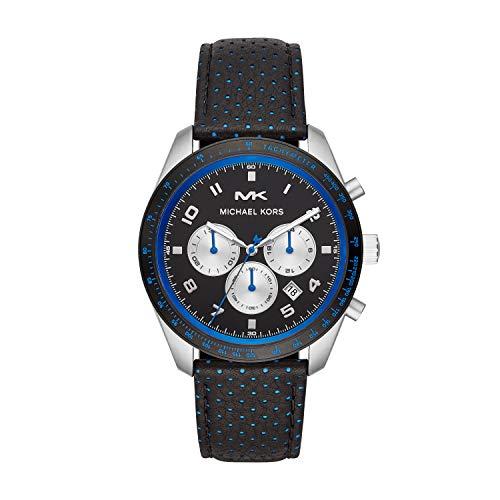 Michael Kors Mens Chronograaf Quartz Horloge met Lederen Band MK8706