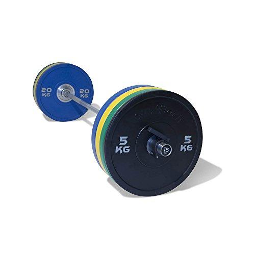 Physical Company PU Nuovo Set di manubri 10–110kg–2x 5kg, 10kg, 15kg, 20kg + Ez Bar