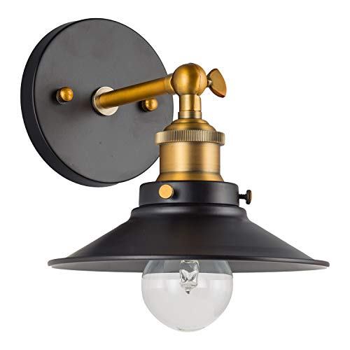 Andante LED Industrial Wall Sconce Fixture - Antique Brass - Linea di Liara LL-WL407-AB