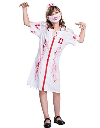 EraSpooky Mädchen Halloween Zombie Krankenschwester Kostüm