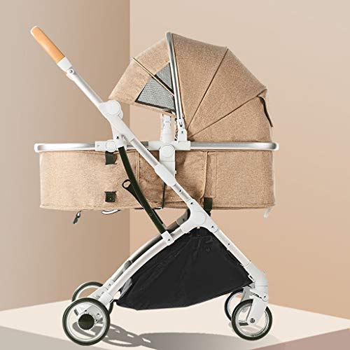 Review TXTC Foldable Stroller Compact Convertible Luxury Pram Strollers,Aluminum Baby Carriage,Pus...
