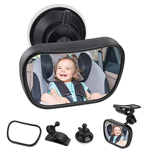Specchietto Retrovisore Bambini,Bambino Vista Posteriore Specchio, Specchio Per Auto Sedile Posteriore Specchio, Specchio Auto Regolabile Per...