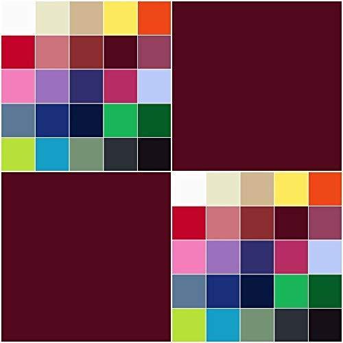 DIE NÄHZWERGE Baumwollstoff Uni Meterware 155g/m² | Ökotex-Standard 100 dicht gewebt 29 Farben (Bordeaux, 50 x 150 cm)