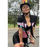 Maillot de ciclismo de triatlón para mujer, camiseta de manga corta para exteriores, mallas, mono, ciclismo, bicicleta...