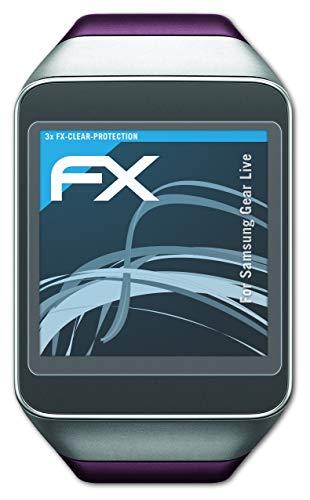 atFoliX Schutzfolie kompatibel mit Samsung Gear Live Folie, ultraklare FX Bildschirmschutzfolie (3X)