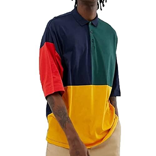SSBZYES Camiseta para Hombre Polos De Verano De Manga Corta Camisetas De Gran Tamaño para Hombre Jerseys Polos Holgados De Manga Corta Estampados En Contraste