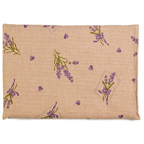 Cuscino termico - Semi di lino - Fiore romantico - 30x20cm - Terapia caldo e freddo
