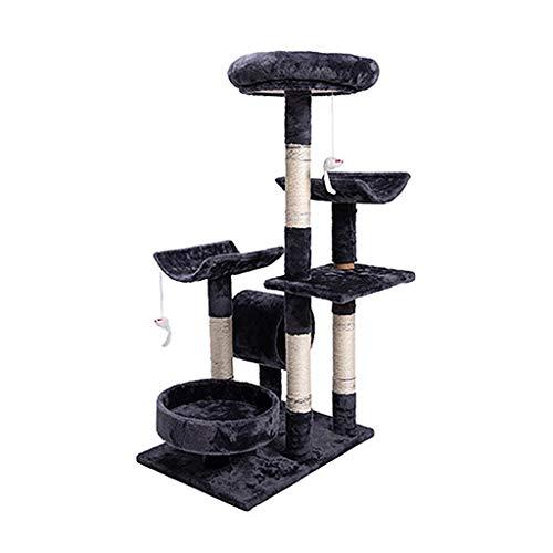 HXGL-Cat klimrek Tower Cat klimrek Nest krabpaal Platform Grab Bericht Pet Toy foto- Meubelen Sisal Stable Multilayer eenvoudig te monteren (Size : L56*W43*H96cm)