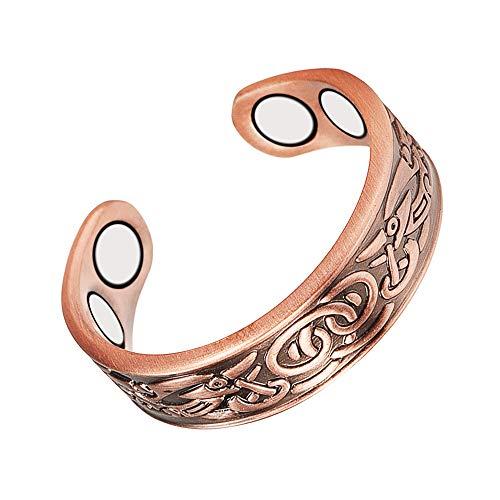 Anillo de cobre magnético para la artritis mujeres/hombres ajustable saludable con 4PCS imanes (CPR-0915) (longitud 60mm)