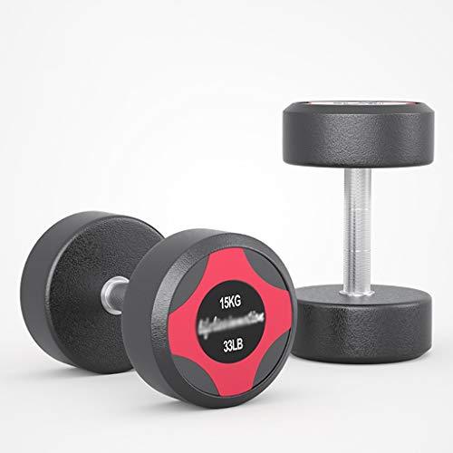 SKK Barbell de Neopreno Recubierto de Goma Pesas Pesas Mancuernas con manijas de Metal for la tonificación Muscular, la Fuerza de construcción (tamaño : 30 kg (15kg*2))