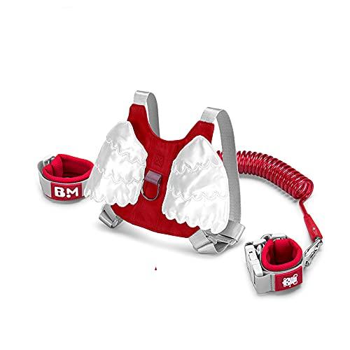 NAJING Simpatica Imbracatura di Sicurezza da Passeggio per Bambini Cintura di Sicurezza per Bambini Cintura di Sicurezza Mini Cintura di Sicurezza per Ragazzi E Ragazze,Red