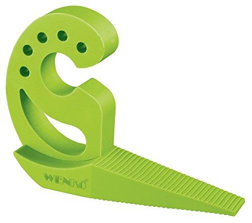 Wenko 50510500 Tür-/Fensterstopper Multi-Stop, 2-er Set, Thermoplastischer Kunststoff, 2,5 x 11,8 x 7,7 cm, grün