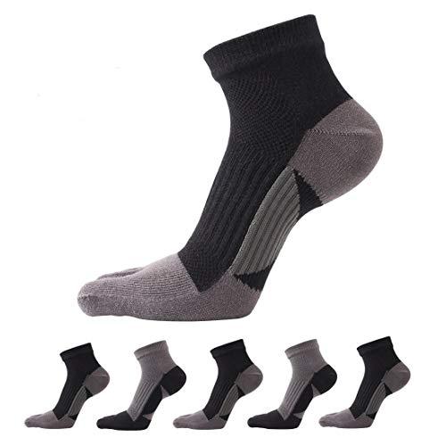 Toe Socks Five Finger Socks Mini Crew Athletic Running Socks for Men [5-Pack]