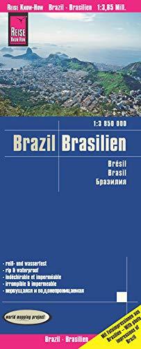 Reise Know-How Landkarte Brasilien / Brazil (1:3.850.000): reiß- und wasserfest (world mapping project)