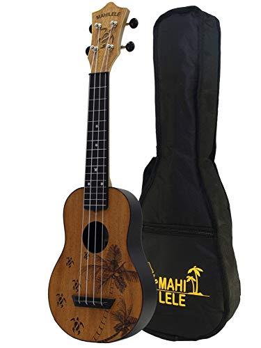 Mahilele 3.0 ukulele soprano Estate in mogano con custodia