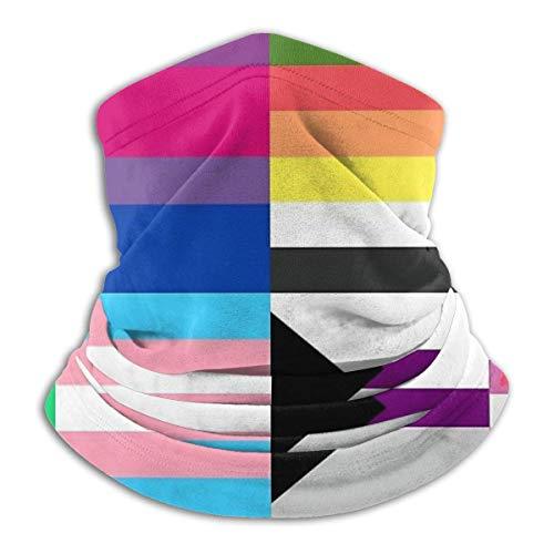 Lawenp Lesbian Gay LGBT Pride Flags Unisex Microfiber Warmer Face Bandana Cuello Polaina, A prueba de viento Sun Protección UV Bufanda de tela reutilizable Pasamontañas