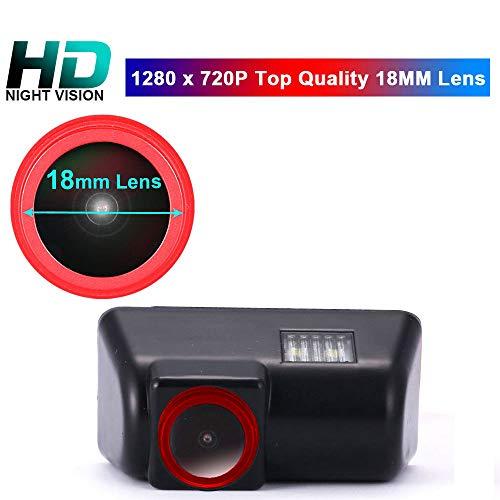 【Speciale rode lens Super HD achteruitrijcamera 】1280 * 720 pixels 1000 TV lijnen HD lens 170° Super groothoek achteruitrijcamera waterdicht nachtzicht voor Ford Transit MK6 / MK7 Transporter auto camera