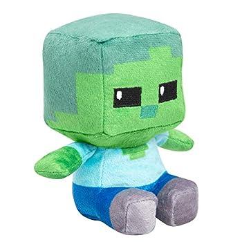 JINX Minecraft Mini Crafter Zombie Plush Stuffed Toy Green 4.5  Tall
