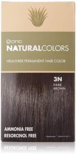 ONC NATURALCOLORS (3N Dark Brown) 4 fl. oz. (120 mL) Healthier Permanent Hair Dye with Certified Organic Ingredients, Ammonia Free, Vegan Friendly, 100% Gray Coverage