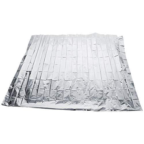 FOReverweihuajz 210 x 120 cm Pflanzen-PETP-Folie, reflektierend, Gewächshaus, Wachstumslicht, faltbar, Gartengeräte, Zubehör, Silber