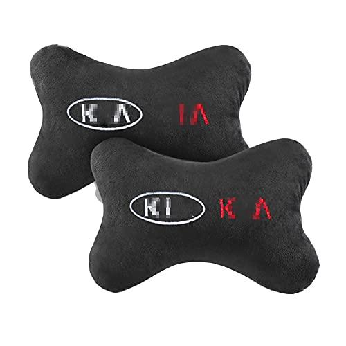 WYYUE Neck Support Pillow, Viscoelástica de Almohada de Cuello, Viaje Asiento de Coche Reposacabezas con patrón de Logotipo Compatible con KIA Cerato Sportage R K2 K3 K5 Ceed Sorento Cerato Optima