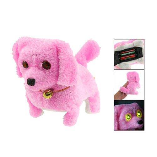 Dcolor Jouet de chien electronique en peluche rose