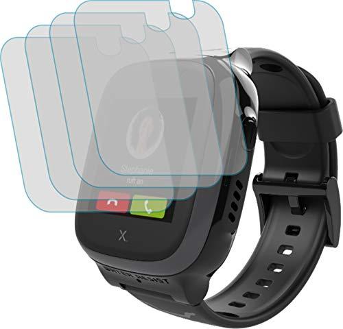 4ProTec I 4X Schutzfolie KLAR passgenau für XPLORA X5 Play - Bildschirmschutzfolie Schutzhülle