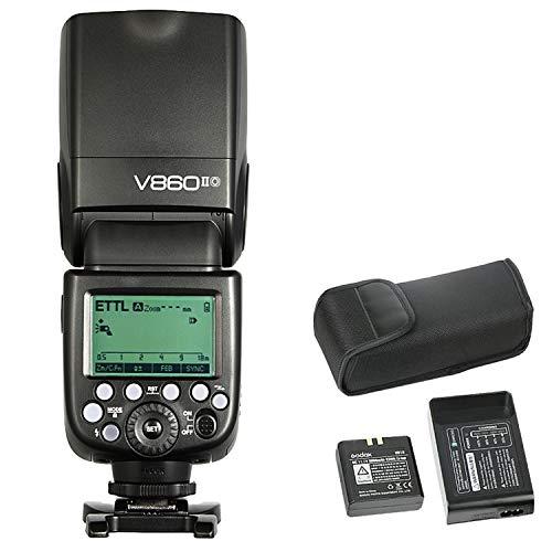 Godox Ving V860II-O Pionero Flash de cámara Speedlite, TTL 2.4G Wireless HSS GN60 Speedlight Flash/Li-on Powered para cámaras DSLR Panasonic Olympus