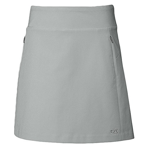 Cutter & Buck Women's Moisture Wicking 50+ UPF Pacific Pull-on Skort with Pockets, Oxide Heather, X-Small