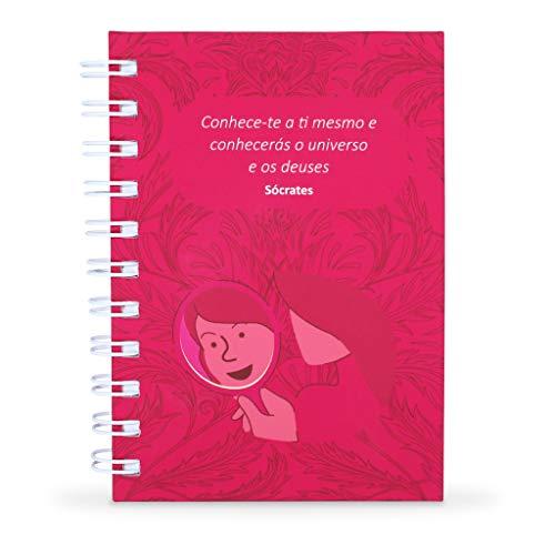 Caderneta do Autoconhecimento Capa Dura, Toque Aveludado, Tam. A6, 60 folhas, Feminino