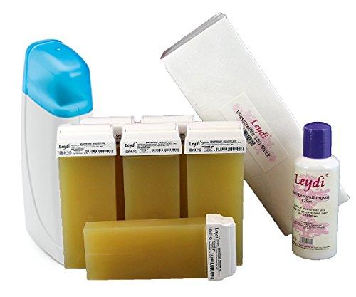 Leydi Prive - Wachspatronenset Honig - Das günstige und vollständige Starterset für die einfache Haarentfernung mit Warmwachs und Vliesstreifen zu Hause