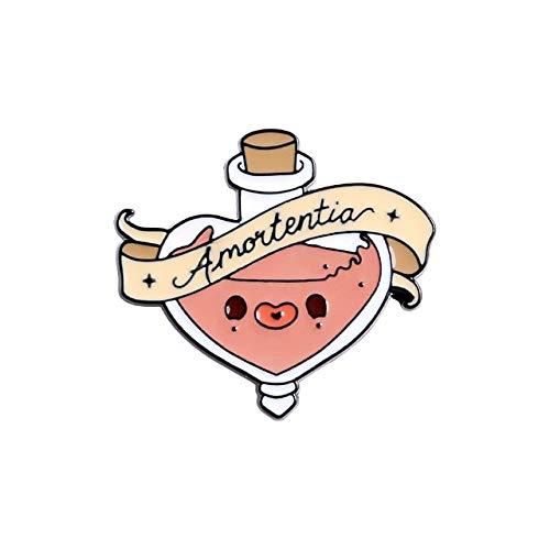 WEHONG Pociones M¨¢gicas De Amor, Alfileres De Esmalte, Broches Encantadores, Bolsa De Camisa, Insignia De Pin De Solapa Colorida, Joyer¨ªa De Moda, Regalos,???Style1