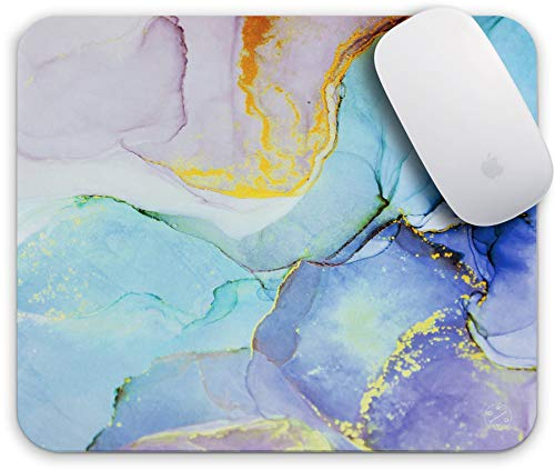 Oriday Gaming Mouse Pad Custom for Home and Office, Modern Blue Design for Women Non-Slip Rubber Thick Mouse Pad for Computers Desktops, PC, Laptop(Purple Ocean)