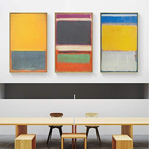 Famoso Mark Rothko Segram Schizzo murale Poster Stampa Pittura a Olio Arte Modern Decor Immagini per pareti per Soggiorno Camera da Letto 40 * 60 cm * 3 Senza Cornice