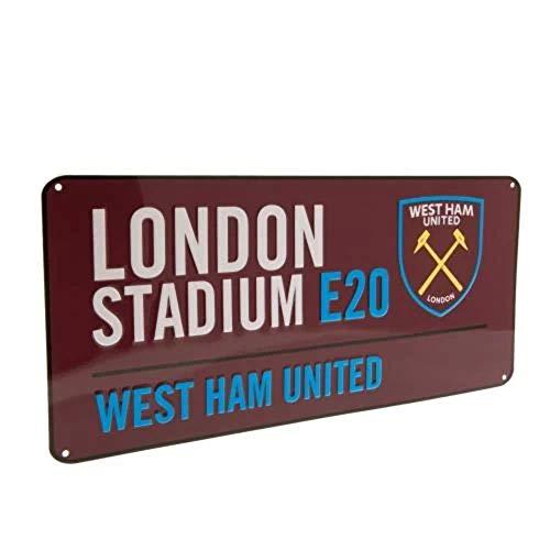 Club Licensed West Ham Colour Street Sign - 40cm x 18cm
