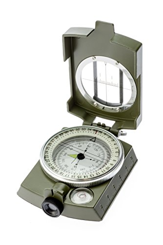 SE Military Lensatic and Prismatic Sighting Survival Emergency Compass with Pouch - CC4580