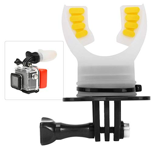 Mouth Bite Mount Mouthpiece Holder Adapter Surfing Diving Skating with Floaty and Neck Lanyard for Gopro Hero 7/6/5/4/3/3+ for SJCAM for XiaoYi Action Camera(Black)