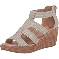 American Lifestyle Long Island Wedge Sandal (Oyster Snake Synthetic)