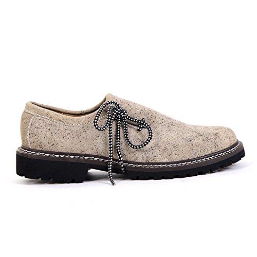 Almbock Trachtenschuhe beige alt-antik - Exclusive Herren-Schuhe, hochwertig und extravagant, leicht, alt-antik Design, Größe 40 41 42 43 44 45 48