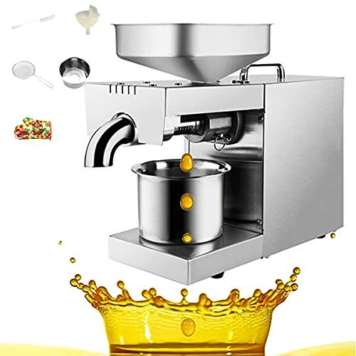BLLJQ Acero Inoxidable Eléctrica Prensa Aceite, 220V Almazara, Control Inteligente, Engranaje Acero,...
