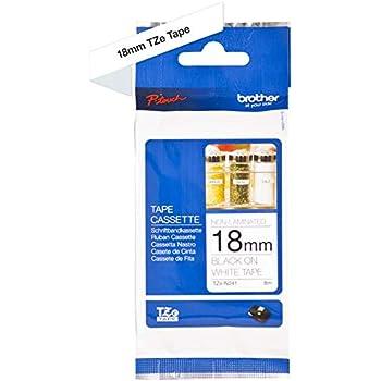 5 Schriftbänder kompatibel zu Brother P-Touch TZE-242 8m//18mm Rot auf Weiß